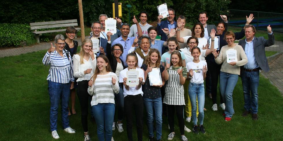 Uitreiking eerste ronde certificaten PlasticVrij Challenge 2021