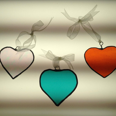 Stained Glass Hearts £12 each