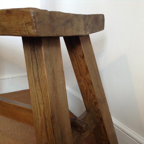 Butchers antique work bench £425