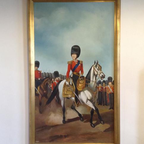 Gold framed millitry oil painting £2,400