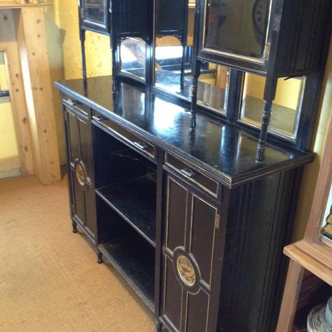 No1902 / Antique Ebonised Display Cabinet £475
