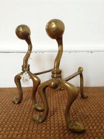No19 / Brass Fire Dogs £55