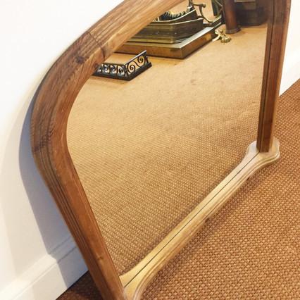 Overmantel Mirror ~ waxed pine