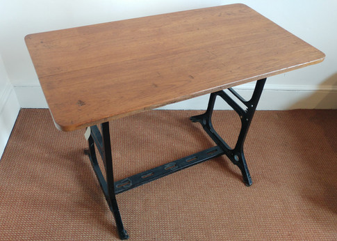 Singer iron base with oak table top £385