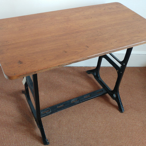 Singer iron base with oak table top £345