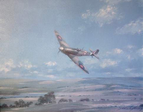 Spitfire oil painting £120