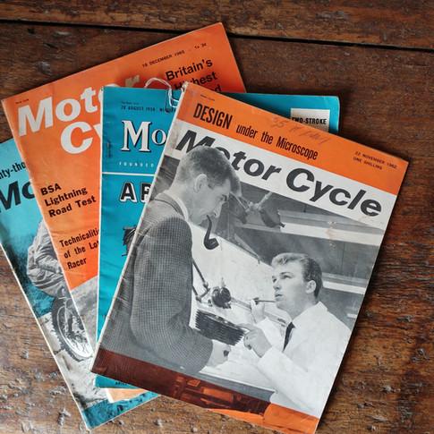 Motor Cycle Magazines circa 1960's  £9 each