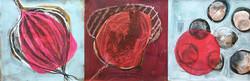 3er Serie Quadrat mit Rot