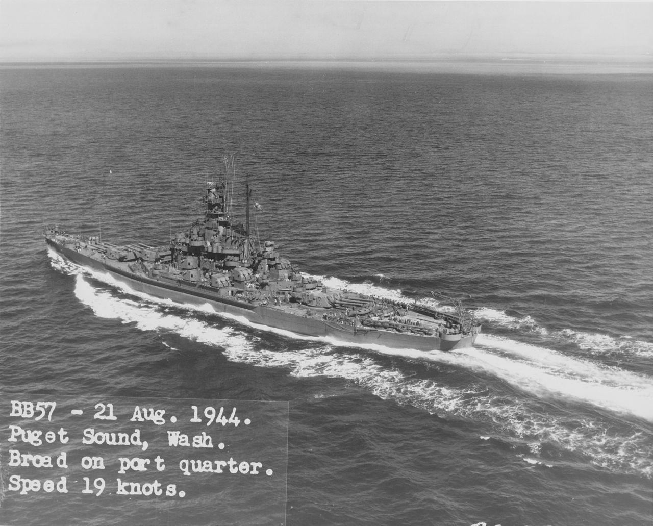USS_South_Dakota_in_Puget_Sound_NARA_BS_