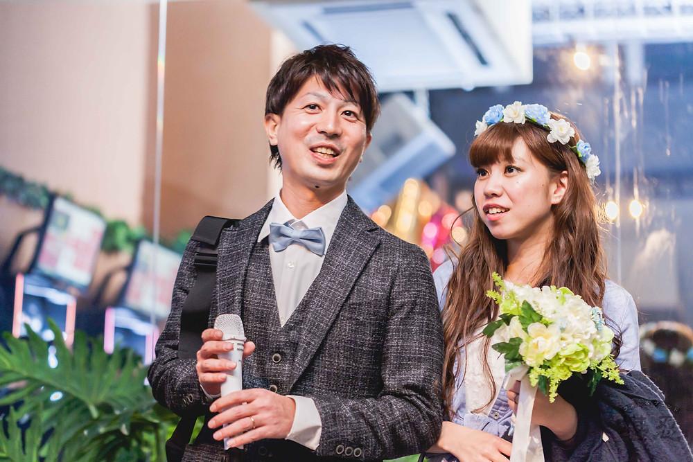 沖縄-結婚式二次会写真-Diningbar LINE-新郎新婦