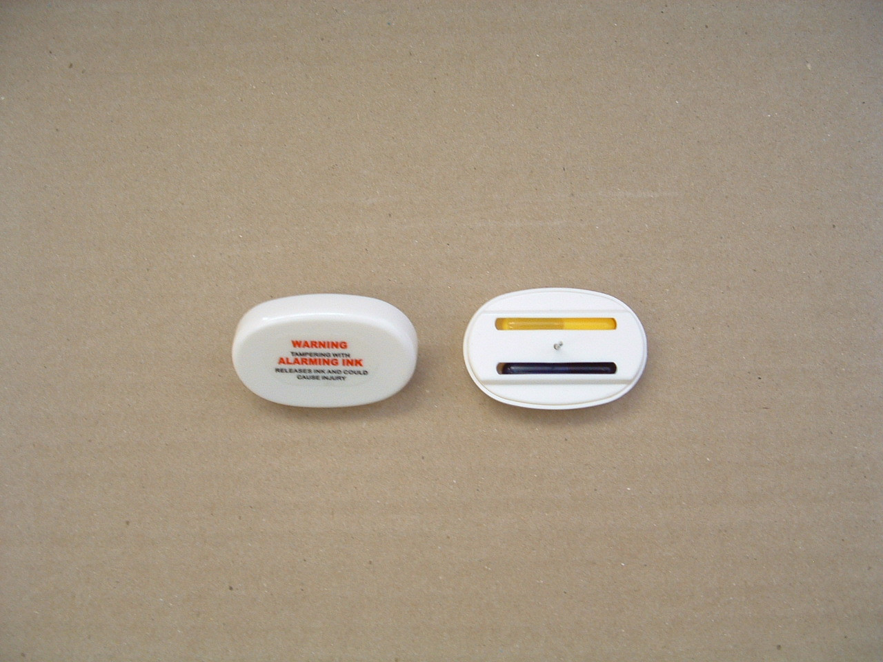 Ink Tag White Oval