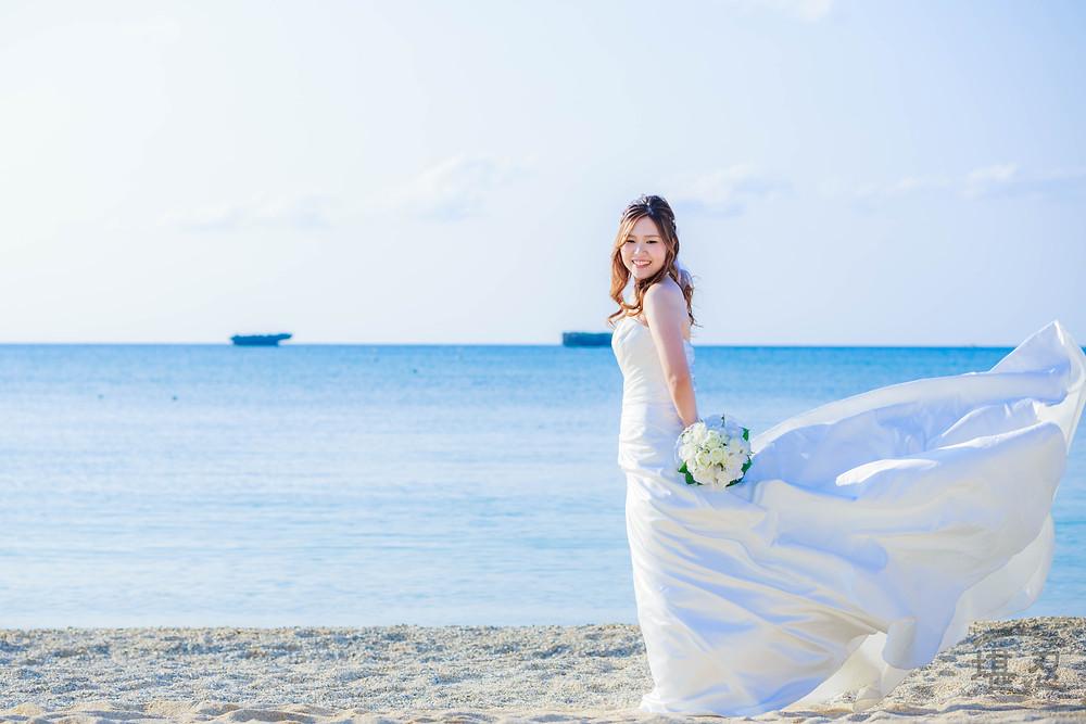 【沖縄前撮り】カップルフォト-恩納海浜公園ナビービーチ