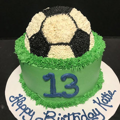 Birthday cake for a young soccer fan. #b