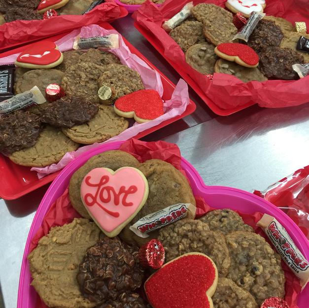 Valentine's Day cookie trays
