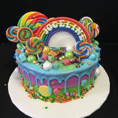 Candy land cake. #birthdaycake #cake #bo