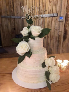 Rustic Lined Three Tier