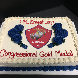 Congression Gold Medal receipent cake