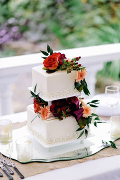 Smooth Iced Square Seperate 2 Tier Cake