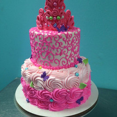 Princess birthday cake. Pretty and  pink