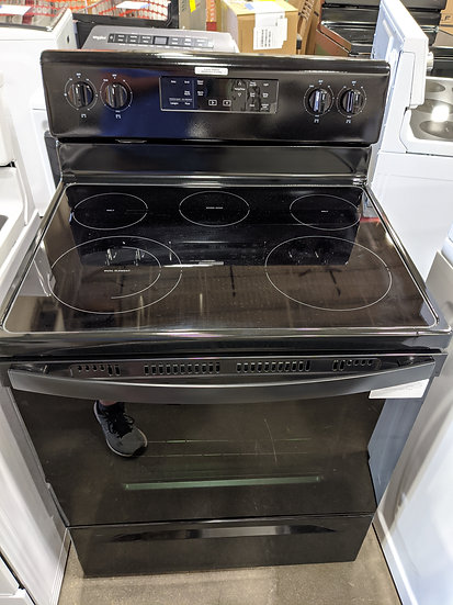 Whirlpool 5.3 Cu. Ft. Smooth Top Electric Range Black-49249