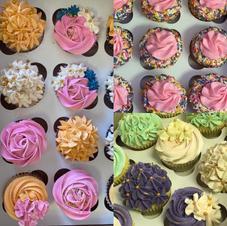 Flower buttercream designer cupcakes