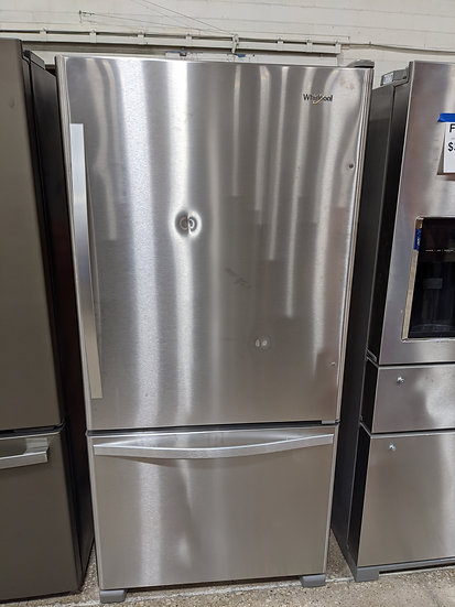 Whirlpool 21.9 CF Bottom Freezer SS- 46437