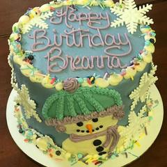 A wonderful winter themed cake with matc