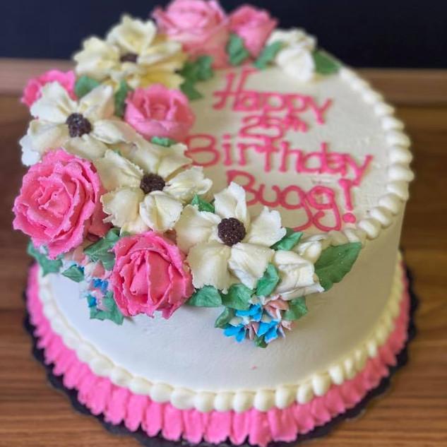 Birthday flower cake 3