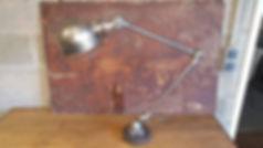 lampe jielde vintage, decapage et finition