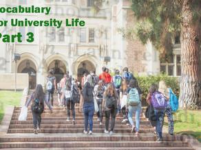 TOEFL Listening: Vocabulary for University Life Part 3
