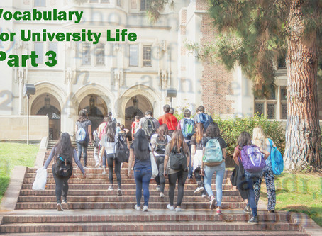 TOEFL Listening: Vocabulary for University Life Part 3