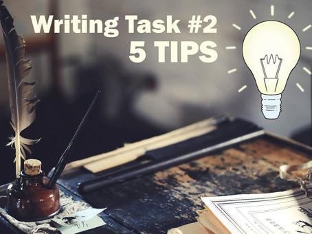 5 Tips for TOEFL Writing Task #2