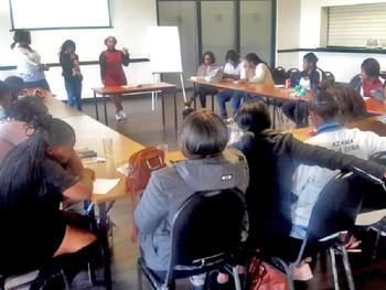 US feminist economist Savi Bisnath conducts Masimanyane training sessions