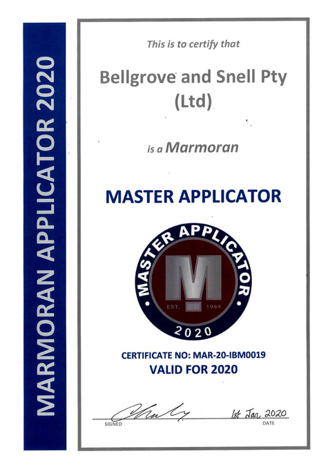 Bellgrove & Snell credited as Mamoran Master Applicator