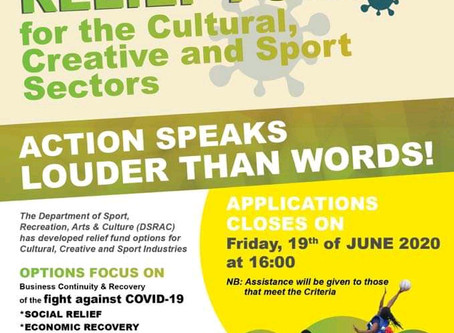 Provincial Relief Fund for the Cultural, Creative and Sport sectors