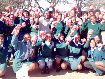 Young Masimanyane-supported activist launches sanitary towel drive