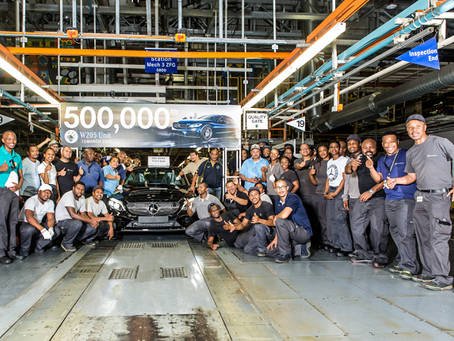 Mercedes-Benz SA celebrates 500,000th C-Class rolling off the line in East London