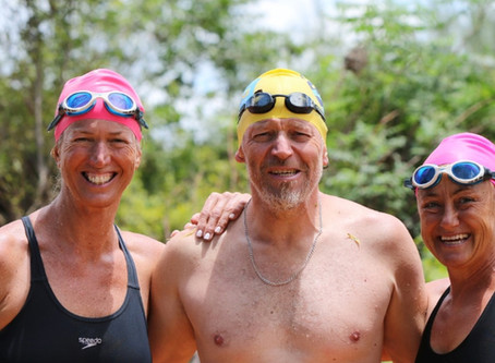 East London open water swimmers raise awareness of SA river pollution