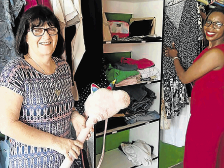 Charity shop offers double benefit