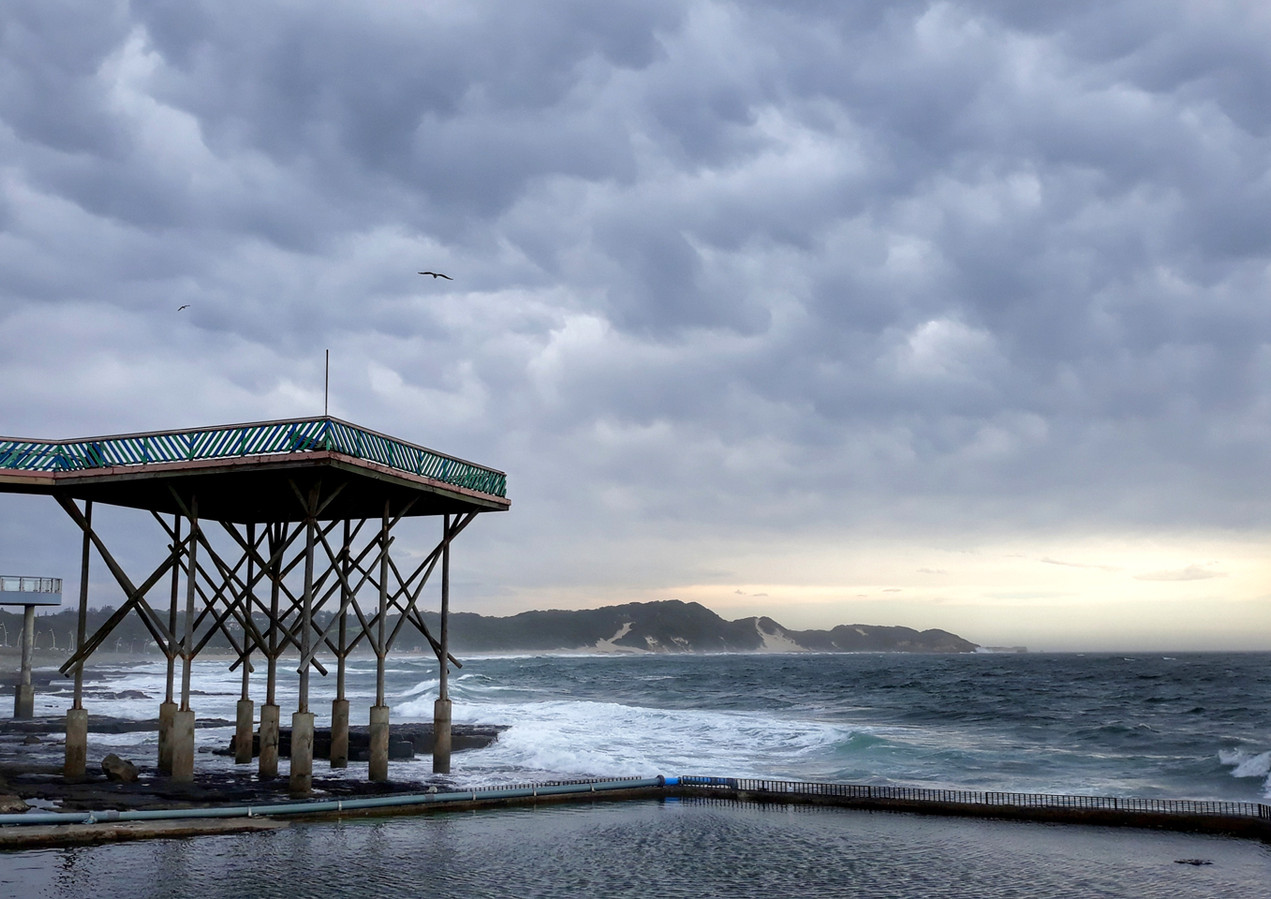 View from the aquarium on a stormy day