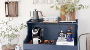 Repurposed Dry-Sink Coffee Bar