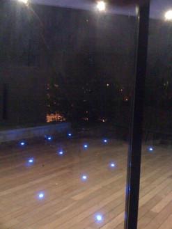éclairage design d'une terrasse