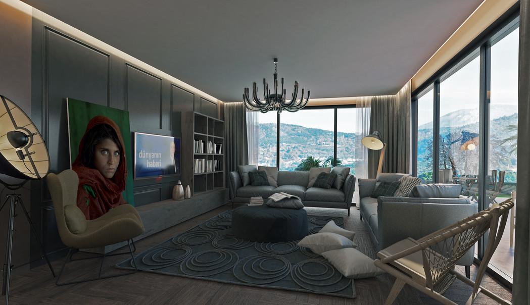 Villa Tayga Salon Manzarası