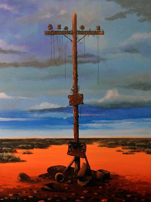 """ Old telegraph pole"""