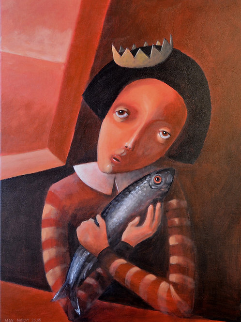 Lady with trout