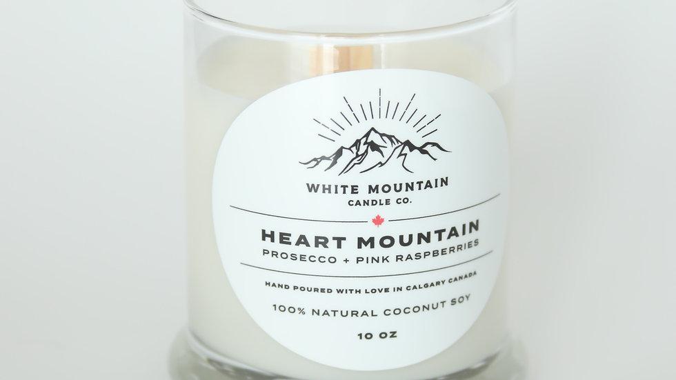 Heart Mountain     -    Prosecco + Pink Raspberries