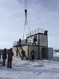 Taber, Alberta fire training modular building