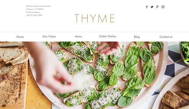 Restaurant website templates – Vegetarian Restaurant