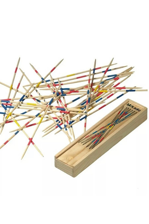 Mikado Wooden Pick Up Sticks Kids Traditional Retro Game