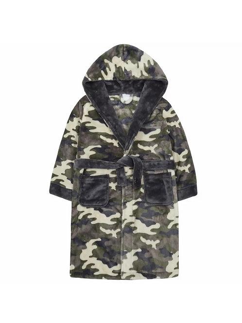✨LAST SIZES✨ Camo Dressing Gown Plush Fleece Hooded Bath Robe